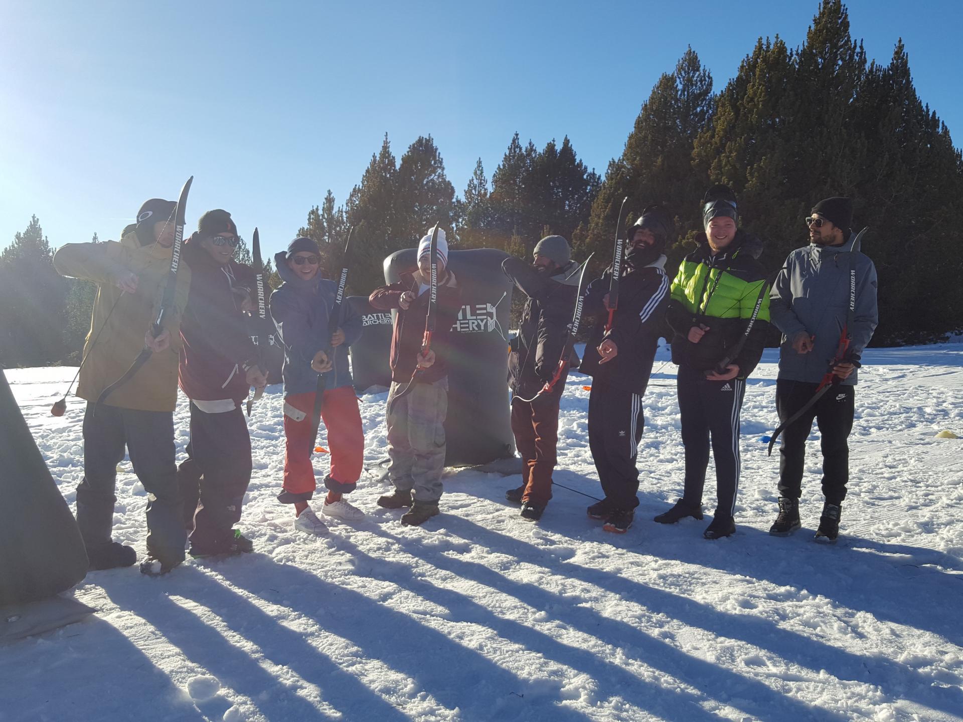 Battle Archery sur la neige à Font Romeu